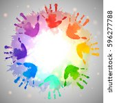 Rainbow Prints Of Children...