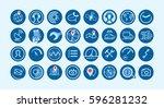 mobile gps navigation and... | Shutterstock .eps vector #596281232