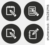 notepad vector icons set. white ... | Shutterstock .eps vector #596281946