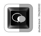 black button round chat bubbles ...