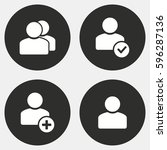 account vector icons set. white ... | Shutterstock .eps vector #596287136