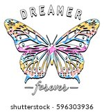 colorful butterfly graphic with ...