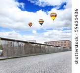 the remains of berlin wall in...   Shutterstock . vector #59631436