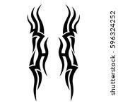 tattoo tribal vector designs... | Shutterstock .eps vector #596324252