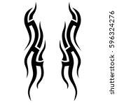 tattoo tribal vector designs... | Shutterstock .eps vector #596324276
