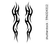 tribal designs. tribal tattoos. ... | Shutterstock .eps vector #596324312