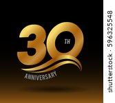 30 years golden anniversary...   Shutterstock .eps vector #596325548