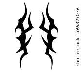 tattoo tribal vector designs... | Shutterstock .eps vector #596329076
