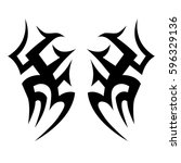 tattoo tribal vector designs... | Shutterstock .eps vector #596329136