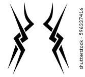 tattoo tribal vector designs... | Shutterstock .eps vector #596337416