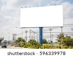 blank billboard for new... | Shutterstock . vector #596339978