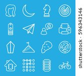 Abstract Icons Set. Set Of 16...