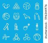 ball icons set. set of 16 ball... | Shutterstock .eps vector #596344976
