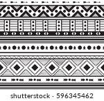 hand drawn vector boho seamless ...   Shutterstock .eps vector #596345462