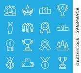 victory icons set. set of 16... | Shutterstock .eps vector #596346956