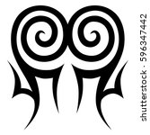 tribal designs. tribal tattoos. ... | Shutterstock .eps vector #596347442