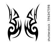 tattoo tribal vector designs... | Shutterstock .eps vector #596347598