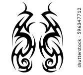 tribal designs. tribal tattoos. ... | Shutterstock .eps vector #596347712