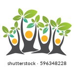 family tree with elaves mother  ... | Shutterstock .eps vector #596348228