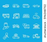 car icons set. set of 16 car... | Shutterstock .eps vector #596348702