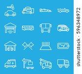 auto icons set. set of 16 auto...   Shutterstock .eps vector #596348972