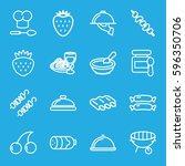 gourmet icons set. set of 16...   Shutterstock .eps vector #596350706