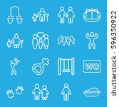 boy icons set. set of 16 boy... | Shutterstock .eps vector #596350922
