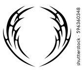 tattoo tribal vector designs... | Shutterstock .eps vector #596360348