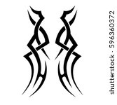 tattoo tribal vector designs... | Shutterstock .eps vector #596360372