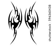 tattoo tribal vector designs... | Shutterstock .eps vector #596360438