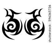 tribal designs. tribal tattoos. ... | Shutterstock .eps vector #596365736