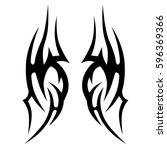 tattoo tribal vector designs... | Shutterstock .eps vector #596369366
