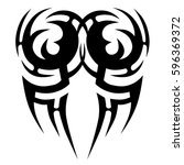 tattoo tribal vector designs... | Shutterstock .eps vector #596369372