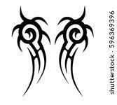 tribal designs. tribal tattoos. ... | Shutterstock .eps vector #596369396