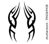 tattoo tribal vector designs...   Shutterstock .eps vector #596369438