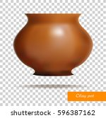 Clay Pot. Dishes. Vector