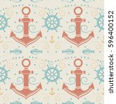 vector seamless pattern with... | Shutterstock .eps vector #596400152
