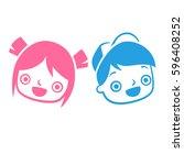 boy and girl seamless pattern... | Shutterstock .eps vector #596408252