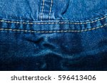 abstract blue jeans texture... | Shutterstock . vector #596413406