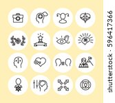 set of vector icon graphics... | Shutterstock .eps vector #596417366