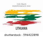 independence day lithuania | Shutterstock .eps vector #596422898
