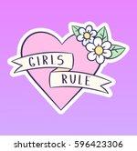 girl rule vector illustration ... | Shutterstock .eps vector #596423306