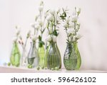 beautiful floral composition on ... | Shutterstock . vector #596426102
