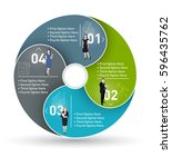 business circle infographic ... | Shutterstock .eps vector #596435762