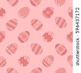 seamless pattern vector  vector ... | Shutterstock .eps vector #596437172
