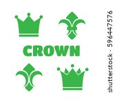 crown icons. gold vector icons    Shutterstock .eps vector #596447576