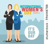 international women's day... | Shutterstock .eps vector #596448788