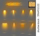 vector light sources  concert... | Shutterstock .eps vector #596451122