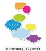 dialog clouds. vector... | Shutterstock .eps vector #59645455