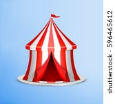 circus concept. circus tent on... | Shutterstock .eps vector #596465612